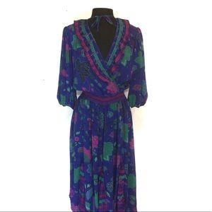 Assorti by Susan Freis Vintage Maxi Dress